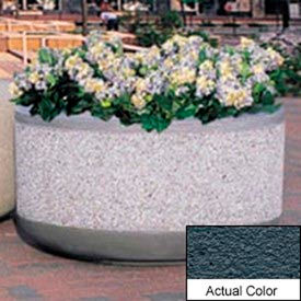 Wausau TF4110 Round Outdoor Planter - Weatherstone Charcoal 48x24