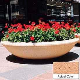 Wausau TF4143 Round Outdoor Planter - Weatherstone Cream 72x18