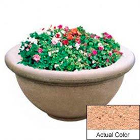 Wausau TF4146 Round Outdoor Planter - Weatherstone Cream 36x18