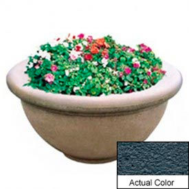Wausau TF4146 Round Outdoor Planter - Weatherstone Charcoal 36x18
