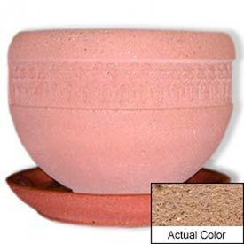 Wausau TF4148 Round Outdoor Planter Saucer - Weatherstone Sand 36x5