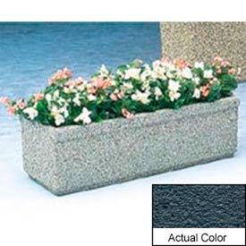 Wausau TF4160 Rectangular Outdoor Planter - Weatherstone Charcoal 48x18x14