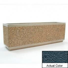 Wausau TF4170 Rectangular Outdoor Planter - Weatherstone Charcoal 72x18x24