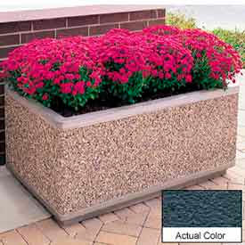 Wausau TF4175 Rectangular Outdoor Planter - Weatherstone Charcoal 72x30x30