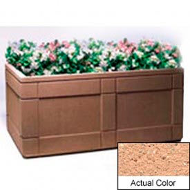 Wausau TF4183 Rectangular Outdoor Planter - Weatherstone Cream 72x48x33