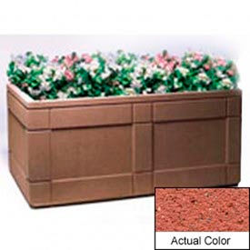 Wausau TF4183 Rectangular Outdoor Planter - Weatherstone Brick Red 72x48x33