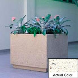 Wausau TF4190 Square Outdoor Planter - Weatherstone White 30x30x30