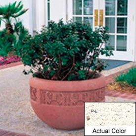 Wausau TF4220 Round Outdoor Planter - Weatherstone White 36x24