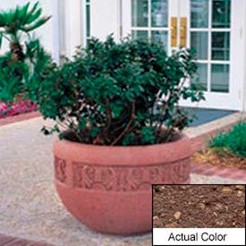 Wausau TF4220 Round Outdoor Planter - Weatherstone Brown 36x24