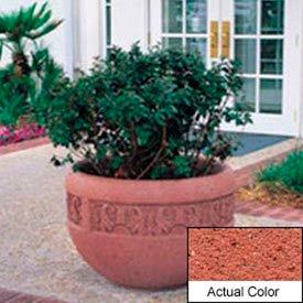Wausau TF4220 Round Outdoor Planter - Weatherstone Brick Red 36x24