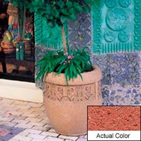 Wausau TF4228 Round Outdoor Planter - Weatherstone Brick Red 24x26
