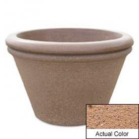Wausau TF4307 Round Outdoor Planter - Weatherstone Sand 30x20