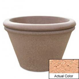 Wausau TF4307 Round Outdoor Planter - Weatherstone Cream 30x20