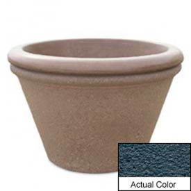 Wausau TF4307 Round Outdoor Planter - Weatherstone Charcoal 30x20