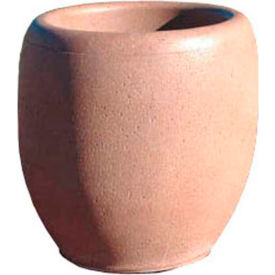 Wausau TF4351 Round Outdoor Planter - Smooth Stained Sand 24x26
