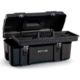 "Waterloo PP-2310BK Plastic Portable 23"" Plastic Tool Box - Black"