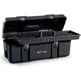 "Waterloo PP-2610BK Plastic Portable 26"" Plastic Tool Box - Black"