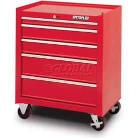Waterloo SCA-265RD-F Friction Slide 5-Drawer Cabinet - Red