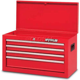 Waterloo SCH-264RD-F Friction Slide 4-Drawer Chest - Red