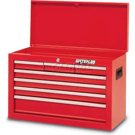Waterloo SCH-267RD-F Friction Slide 7-Drawer Chest - Red