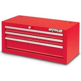 Waterloo SIN-263RD-F Friction Slide 3-Drawer Intermediate - Red