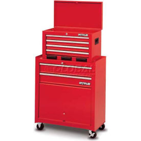 Waterloo STC-266RD-F Friction Slide 6-Drawer Tool Center w/Parts Bin - Red