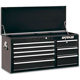 Waterloo WCH-418BK 8-Drawer Chest - Black