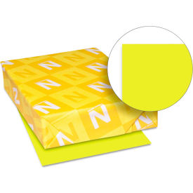 """Neenah Paper Astrobrights Colored Card Stock 22791, 8-1/2"""" x 11"""", Sunburst Yellow™, 250/Pack"""