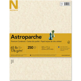 """Neenah Paper Astroparche Specialty Card Stock 26428, 8-1/2"""" x 11"""", Natural, 250/Pack"""