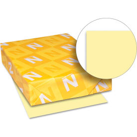 "Neenah Paper Exact Index Card Stock 49541, 110 lbs, 8-1/2"" x 11"", Canary, 250/Pack"