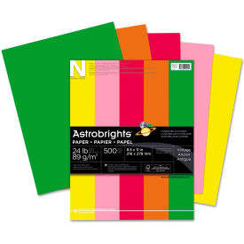 "Neenah Paper Astrobrights Colored Paper, 8-1/2"" x 11"", 24 lb, Vintage Colors, 500 Sheets/Ream"