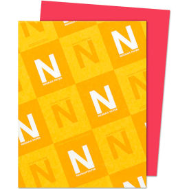 "Neenah Paper Astrobrights Card Stock Paper, 8-1/2"" x 11"", Re-Entry Red, 250 Sheets/Pack by"