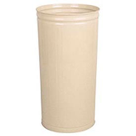 "Tall Trash Container For Use W/Dome Tops, Almond, 80 Quart, 16""Dia X 29""H - Pkg Qty 3"
