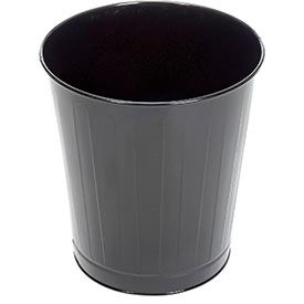 "Round Wastebasket, Black, 26 Quart, 13.5""Dia X 14.5""H"