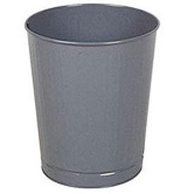 "Round Wastebasket, Gray, 26 Quart, 13.5""Dia X 14.5""H - Pkg Qty 6"