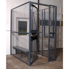 WireCrafters® 840 Style, 2 sided Driver Cage, No Ceiling 3'W x 4'D x 8'H