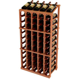 Vintner Commercial 5 Column Merchandiser W/Individual Bottle Rails - All-Heart Redwood, Mahogany