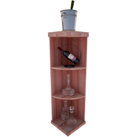 Bulk Storage, Quarter-Round Wine Bottle Shelf, 4-Shelf, 4 Ft high - Mahogany, All-Heart Redwood