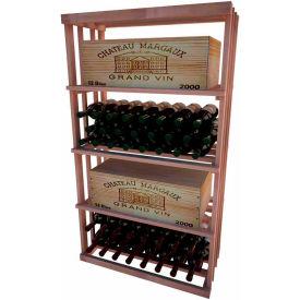 Bulk Storage, Wine Bottle Shelf, 4-Shelf, 4 Ft high - Mahogany, All-Heart Redwood
