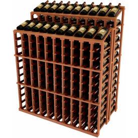 Vintner Commercial DD Merchandiser W/Individual Bottle Rails - All-Heart Redwood, Walnut