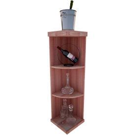Bulk Storage, Quarter-Round Wine Bottle Shelf, 4-Shelf, 4 Ft high - Walnut, All-Heart Redwood