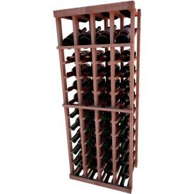 Individual Bottle Wine Rack - 4 Column W/Top Display, 4 ft high - Black, All-Heart Redwood