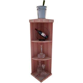 Bulk Storage, Quarter-Round Wine Bottle Shelf, 4-Shelf, 4 Ft high - Black, All-Heart Redwood