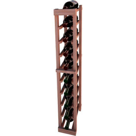 Individual Bottle Wine Rack - 1 Column, 4 ft high - Unstained All-Heart Redwood