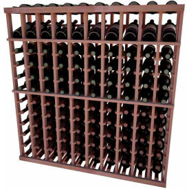 Individual Bottle Wine Rack - 10 Column W/Top Display, 4 ft high - Unstained All-Heart Redwood