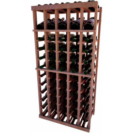 Individual Bottle Wine Rack - 5 Column W/Top Display, 4 ft high - Unstained All-Heart Redwood