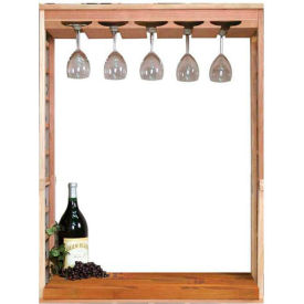 Vintner Series Finish Option, Wine Glass Rack & Table Top Insert - Mahogany, Pine