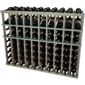 Individual Bottle Wine Rack - 10 Columns, 4 ft high - Mahogany, Pine