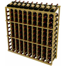 Vintner Commercial 10 Column Merchandiser W/Individual Bottle Rails - Pine, Walnut
