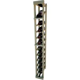 Individual Bottle Wine Rack - 1 Column W/Top Display, 4 ft high - Black, Pine